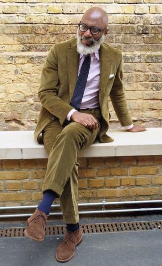 Olive Corduroy Suit.